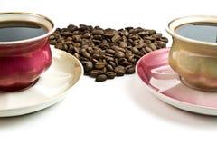 hjärta för kaffekoppar Royaltyfria Foton