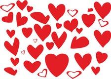 hjärta för konstgemdesignen shapes den din vektorn Royaltyfria Bilder