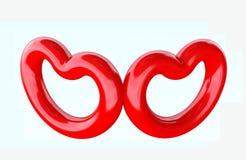hjärta för konstgemdesignen shapes den din vektorn Arkivbild