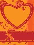 hjärta för kortsländahälsning Royaltyfria Bilder