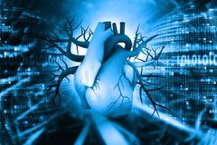 hjärta för människa 3d stock illustrationer