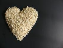 Hjärta för ris för mat för begreppsförälskelse enkel Royaltyfria Bilder