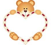 Hjärta för Teddy Bear innehavmellanrum Arkivbilder