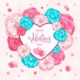 Hjärta för två rosa färg Royaltyfria Foton