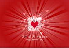 Hjärta för två rosa färg Arkivfoto