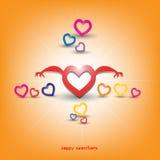 Hjärta för två rosa färg Royaltyfri Foto