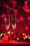 Hjärta för två rosa färg Royaltyfri Fotografi