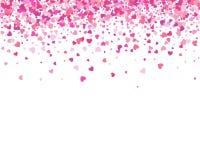 Hjärta för två rosa färg Falla för konfettihjärtakronblad Hjärta royaltyfri illustrationer