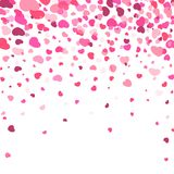 Hjärta för två rosa färg Flyghjärtakonfettier En vektorillustration också vektor för coreldrawillustration Fotografering för Bildbyråer