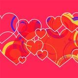 Hjärta för två rosa färg hjärta isolerad formtomatwhite Arkivbild
