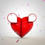 Hjärta för Valantine på med utrymme för textannonser och design Royaltyfri Foto
