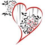 Hjärta för valentin`-dag Arkivfoto