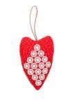 Hjärta för valentin dag på en isolerad bakgrund royaltyfria bilder