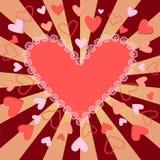 Hjärta för valentin för valentindagbakgrund Royaltyfri Bild
