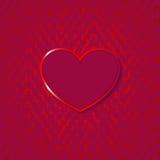 Hjärta för valentindag på grungebakgrund Royaltyfri Bild