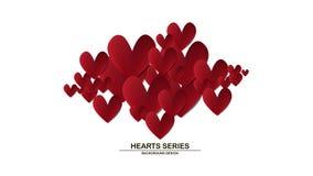 Hjärta för vektorillustrationpapper Arkivfoton
