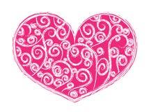 Hjärta-form med swirls Royaltyfri Foto
