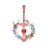 Hjärta-formad banjo royaltyfri illustrationer