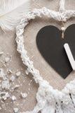 Hjärta formad dreamcatcher royaltyfri bild
