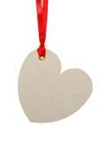 Hjärta formad etikett Arkivbild