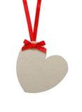 Hjärta formad etikett Arkivfoton