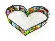 Hjärta formad filmstrip stock illustrationer