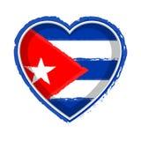 Hjärta formad flagga av Kuban vektor illustrationer