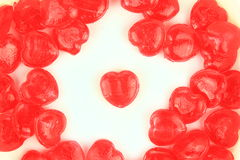 Hjärta-formad godis Arkivfoto