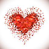 Hjärta formad hög Royaltyfria Foton