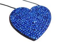Hjärta formad halsband som isoleras på vit Royaltyfri Fotografi