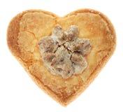 Hjärta-Formad kaka Arkivfoto