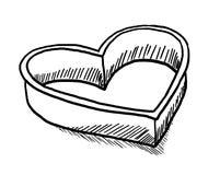 Hjärta formad kaka-skärare Royaltyfria Bilder
