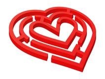 Hjärta formad labyrint Fotografering för Bildbyråer