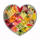 Älska fruktCollage Royaltyfri Fotografi