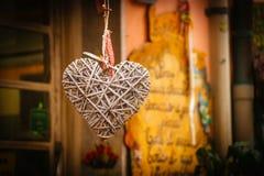 Hjärta-formad souvenir Arkivbilder