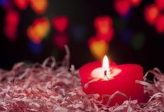 Hjärta formad stearinljus Fotografering för Bildbyråer