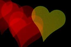 Hjärta formad suddighetsmodell Royaltyfria Bilder