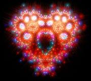 Hjärta-formad symbolisk diamant Arkivfoton