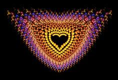 Hjärta-formad symbolisk diamant Royaltyfri Bild