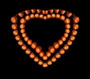 Hjärta-formad symbolisk diamant Arkivfoto