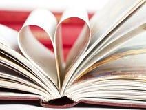 Hjärta formade boksidor Arkivbild
