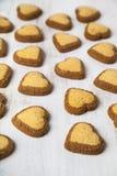 Hjärta-formade kakor för dag för St-valentin` s Royaltyfria Foton