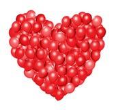 Hjärta formade röda ballonger Royaltyfri Foto