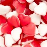 hjärta formade sötsaker Fotografering för Bildbyråer