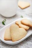 Hjärta formade sockerkakor Arkivfoto