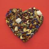 Hjärta formar av tea Royaltyfria Foton