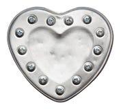 Belägga med metall hjärta arkivfoton