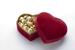 Hjärta formar gåvan boxas fotografering för bildbyråer