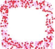Hjärta formar godisen på vit Royaltyfri Fotografi