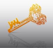 Hjärta formar nyckel- Royaltyfria Foton